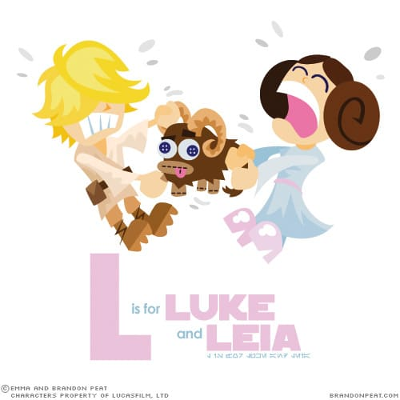 L is for Luke and Leia