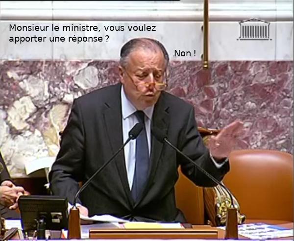 Monsieur le Ministre, voulez-vous apporter une réponse? Non?