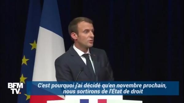 Sortie de l'État de Droit, par Macron