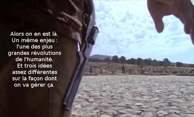 Alors on en est là. Un même enjeu: l'une des plus grandes révolutions de l'humanité. Et trois idées assez différentes sur la façon dont on va gérer ça.